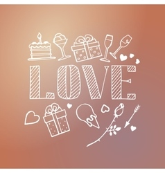 Decorative love card template vector