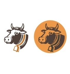 Cow color head vector