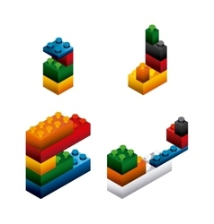 blocks to build design vector image