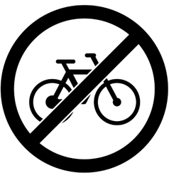 No bicycle sign  flat design vector