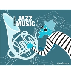 a Jazz poster vector image vector image