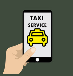 application taxi service on phone vector image