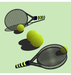 big tennis vector image