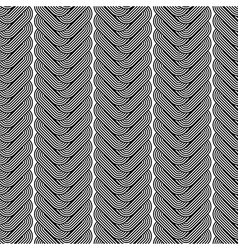 Design seamless monochrome zigzag pattern vector image vector image