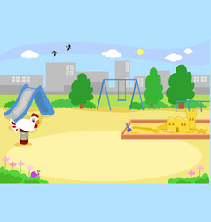 Empty urban playground vector