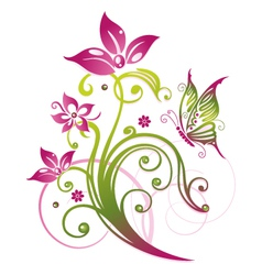 Flowers floral element vector image