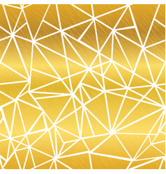 Golden white glowing geometric mosaic vector