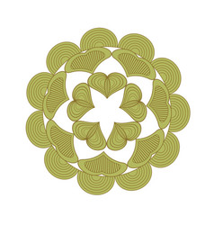 Green floral mandala pattern decoration vector