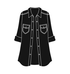 green women s jacket with buttons and short vector image