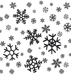 Hand drawn snowflakes christmas ornaments made vector