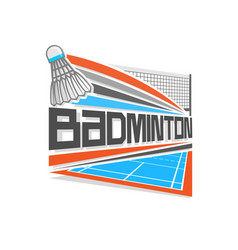 logo for badminton vector image vector image
