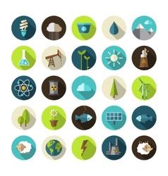 Modern flat design conceptual ecological icons vector image vector image