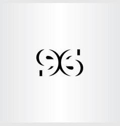 number 96 ninety six icon symbol vector image