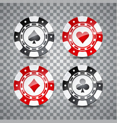 on a casino theme with color vector image