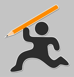 Pencil draw vector image