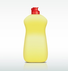 plastic bottle of detergent vector image vector image