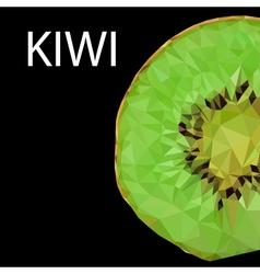 polygonal kiwi vector image vector image