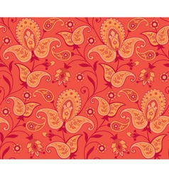 seamless ornate background vector image vector image