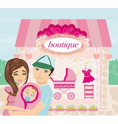 shopping for little girl vector image vector image
