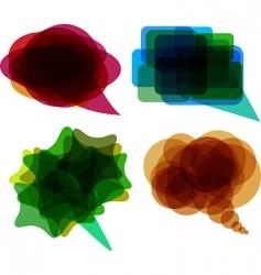 speech balloons vector image vector image