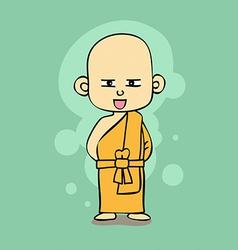 Thai Buddhist monk cartoon style vector image