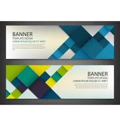 Two banners with colorful squares Business design vector image vector image