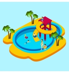 Water Park vector image vector image
