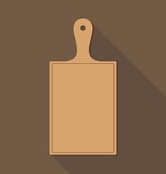 Wooden Chopping Board vector image vector image