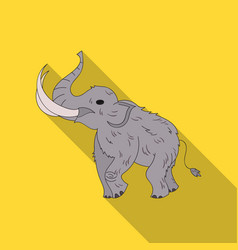 woolly mammoth icon in flate style isolated on vector image vector image