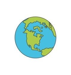 Planet world earth icon vector