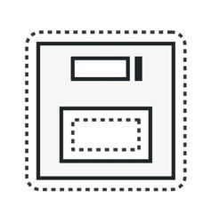 Floppy disk retro isolated icon vector