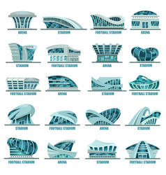 Football or soccer stadiums or athletic arenas vector