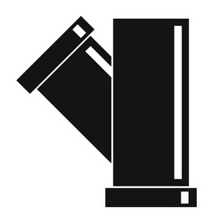 Tee fitting pipe icon simple style vector