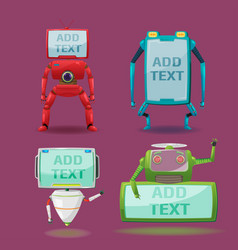 Robot monitor character collection set vector