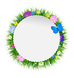 Spring floral poster vector