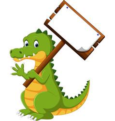 Happy fun crocodile cartoon vector