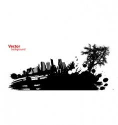 Silhouette cityscape vector