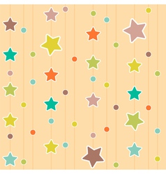 Cute pattern with stars and circles vector
