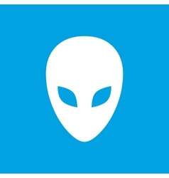 Alien white icon vector