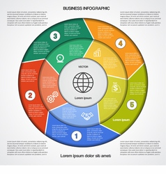 Business circular infographic 5 vector