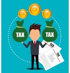Goverment taxes payment vector
