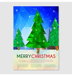 Poster with christmas tree vector