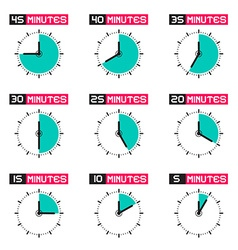 Clock face with different time set isolated vector
