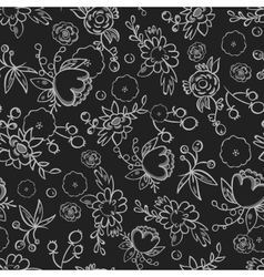 Pattern flower print vector