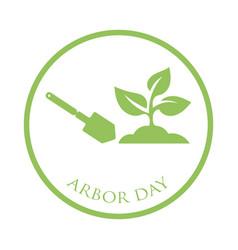Arbor day concept vector