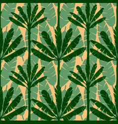 banana tree seamless pattern vector image vector image