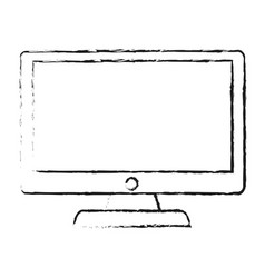 Blurred silhouette lcd monitor with screen vector