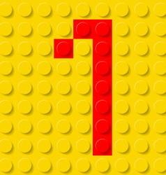 building kit of plastic Font 27 vector image