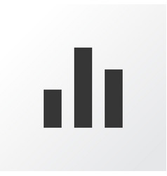 chart icon symbol premium quality isolated column vector image