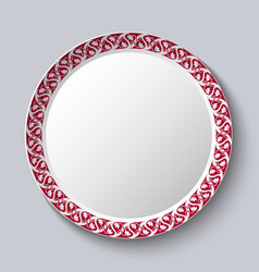 circular ornament frame applied to a decorative vector image vector image